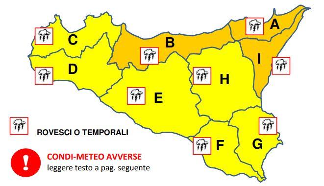 Allerta Meteo Sicilia 14 Ottobre